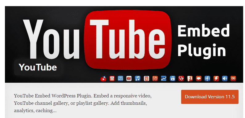 youtube embed wordpress plugin