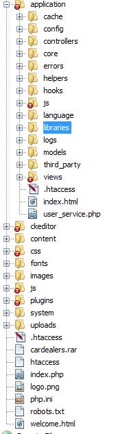 Integrate custom template in codeigniter