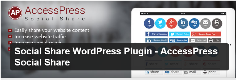 Accesspress Social Share Plugin