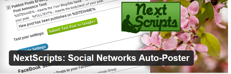NextScripts social networks plugin