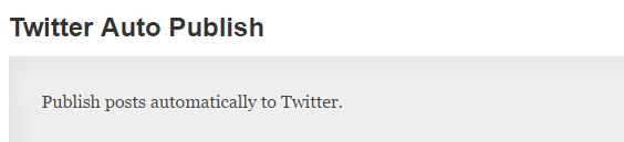 twitter auto publish plugin