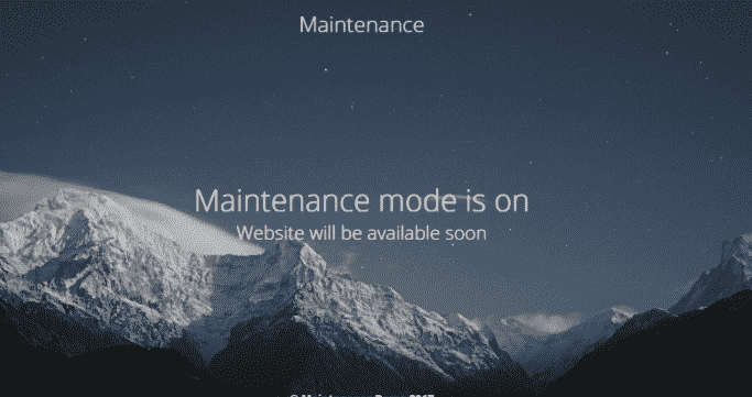 wordpress maintainence mode plugins