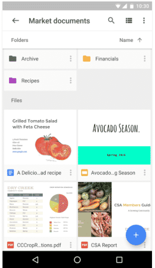 Google Drive Work Smart Android App