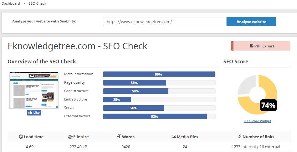 SEO checker tool
