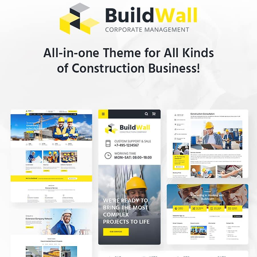 Buildwall wordpress theme