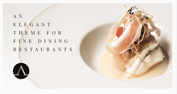 Attika restaurant wordpress theme