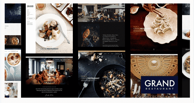 grant restaurant wordpress theme