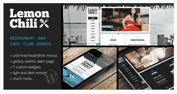 lemonchili restaurant wordpress theme