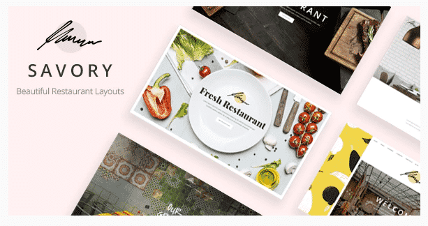 savory restaurant wordpress theme
