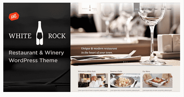 whiterock restaurant wordpress theme